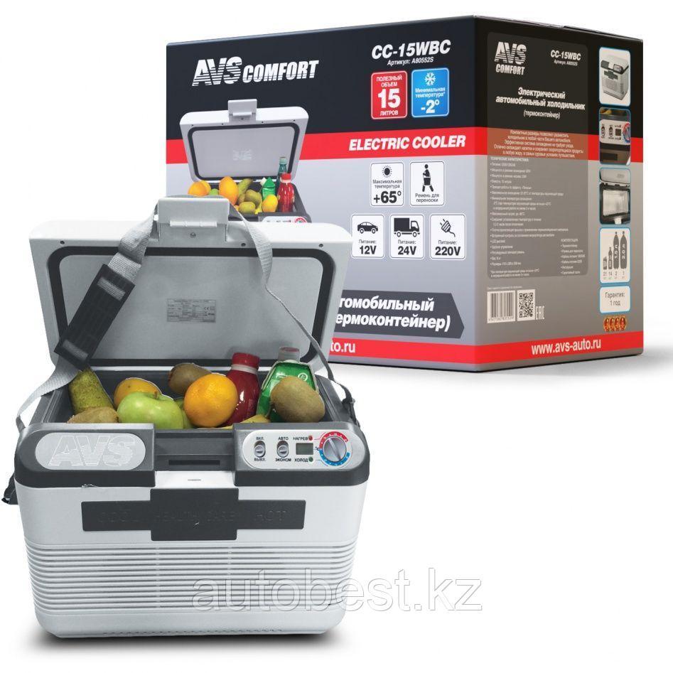 Холодильник автомобильный AVS CC-15WBC(программное управление) 15л 12V/24V/220V