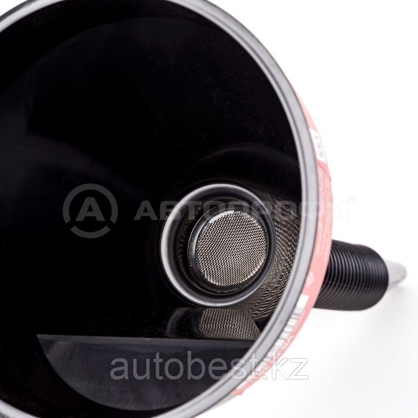 Воронка пластиковая «AUTOPROFI», разборная, встроенный сетчатый фильтр, 135 мм., черная, 1/32