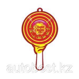 "Ароматизатор воздуха «Chupa Chups» (Strawberry Cream) подвесной, двойная пропитка, ""Клубника со слив"