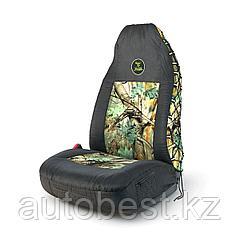 Чехол на перед. сиденье «Зверобой», с литым подголовником, брезентовая ткань, 1шт расцветка «летний камуфляж»