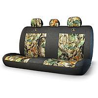 Чехол на заднее сиденье «Зверобой», брезентовая ткань, 3 подголовника, 1шт/компл., расцветка «летний камуфляж»