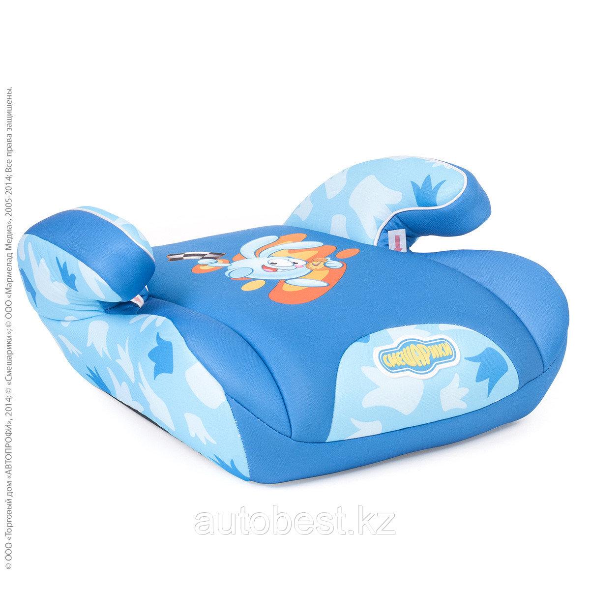 Детское кресло «Смешарики», группы 0+/1 (0-18 кг/0-4 года), полиэстер, поролон 3 см, черн./тем. серый с Пином,1/2