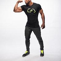Дышащая футболка для бега Gym Aesthetics черная, фото 1