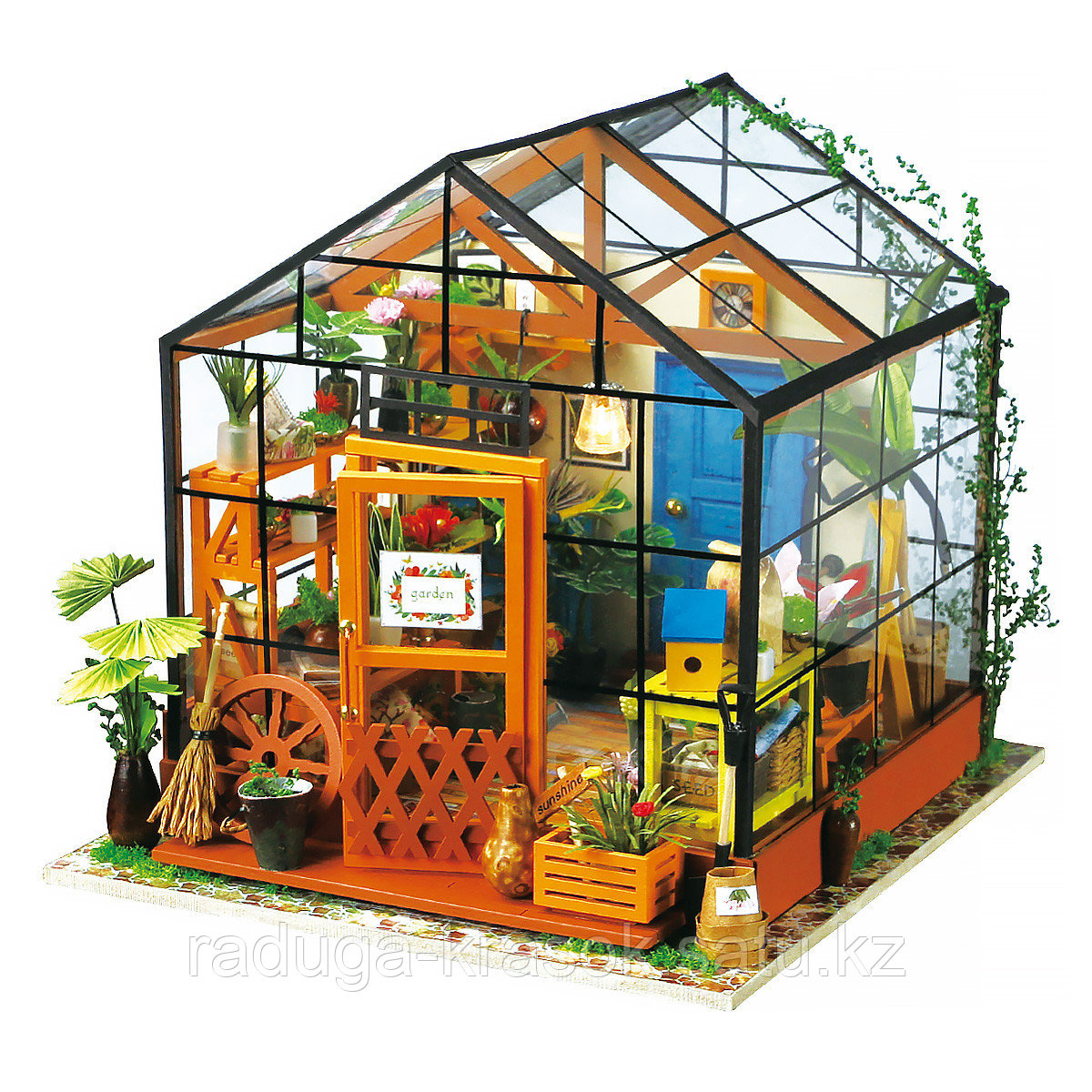 Развивающий интерьерный конструктор Diy House домик мисс Кэти (cобраный)