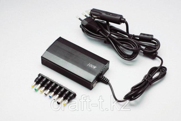 Зарядное устройство для ноутбука универсальное  100 W машинная+сетивая от 12V-24V 10 насадок
