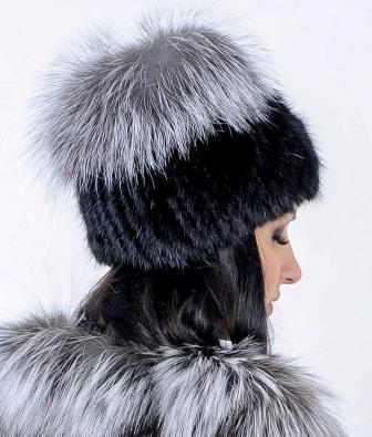 Меховая шапка из Норвежской чернобурки, натуральный мех - фото 3