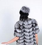 Меховая шапка из Норвежской чернобурки, натуральный мех, фото 2