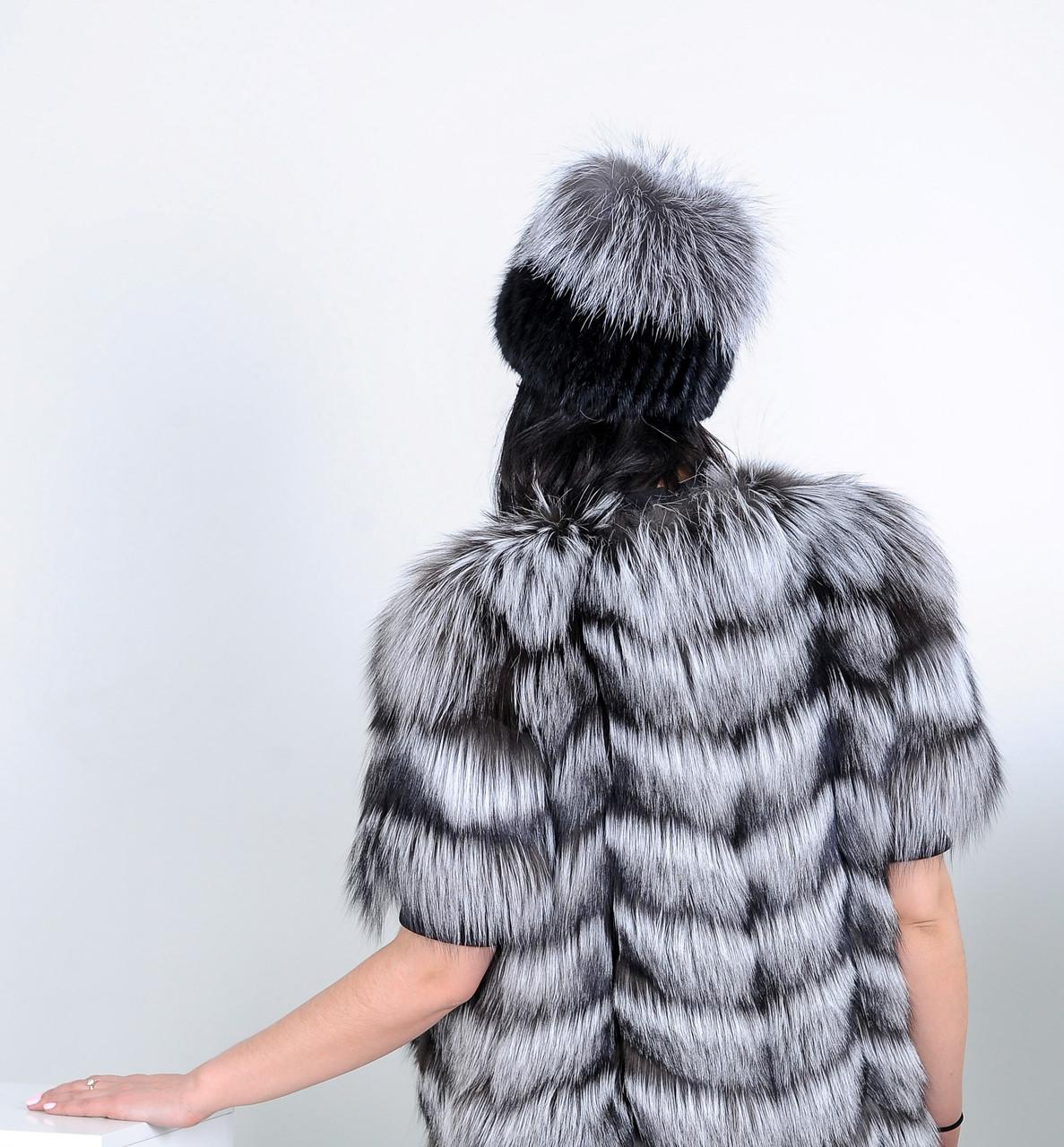 Меховая шапка из Норвежской чернобурки, натуральный мех - фото 2