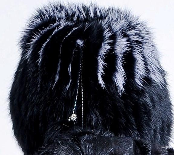 Зимняя меховая шапка из кролика, женская - фото 2