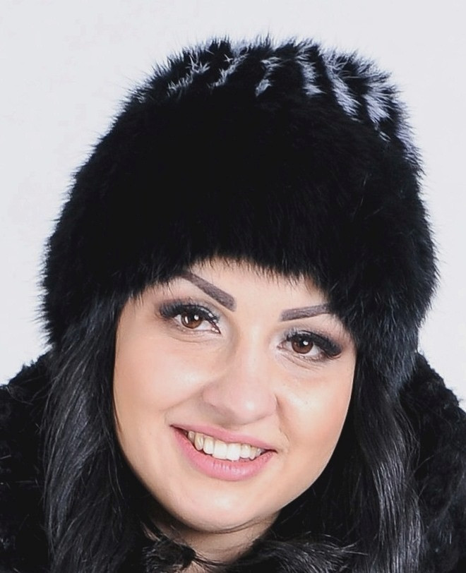 Зимняя меховая шапка из кролика, женская - фото 1