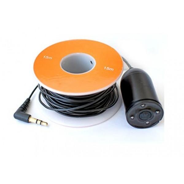 Подводная видеокамера для рыбалки (видео-удочка) с солнцезащитным козырьком Фишка 350