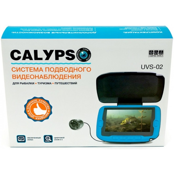 Подводная видеокамера для рыбалки (видео удочка) с записью CALYPSO UVS-02