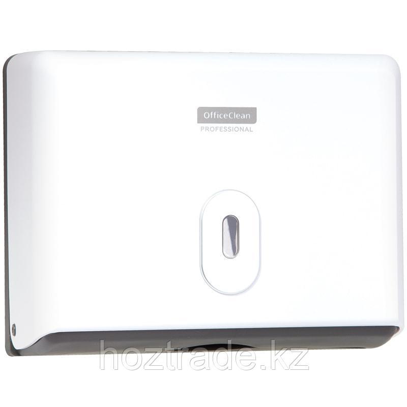 Диспенсер для полотенец листовых OfficeClean Professional ( Z-сложения), механический, белый