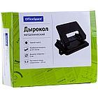 Дырокол OfficeSpace 20 листов, металлический, черный , с линейкой., фото 2