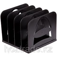 Лоток-сортер вертикальный Стамм сборный 4 отделения, черный