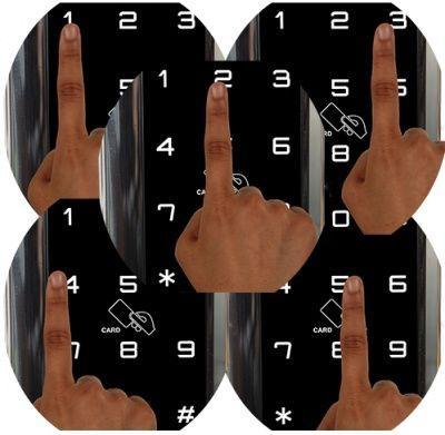 Накладной электронный кодовый замок на дверь EverNet LH340
