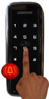Накладной электронный кодовый замок на дверь EverNet LH300
