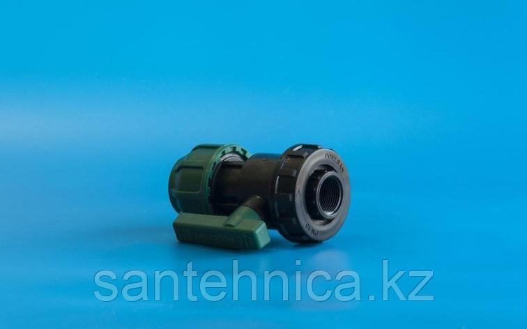 """Кран шаровой компрессионный Дн 32*1"""" с внутренней резьбой Poelsan, фото 2"""