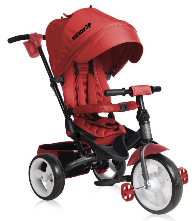 Lorelli Детский трехколесный велосипед с ручкой Lorelli JAGUAR (Красный/Red)