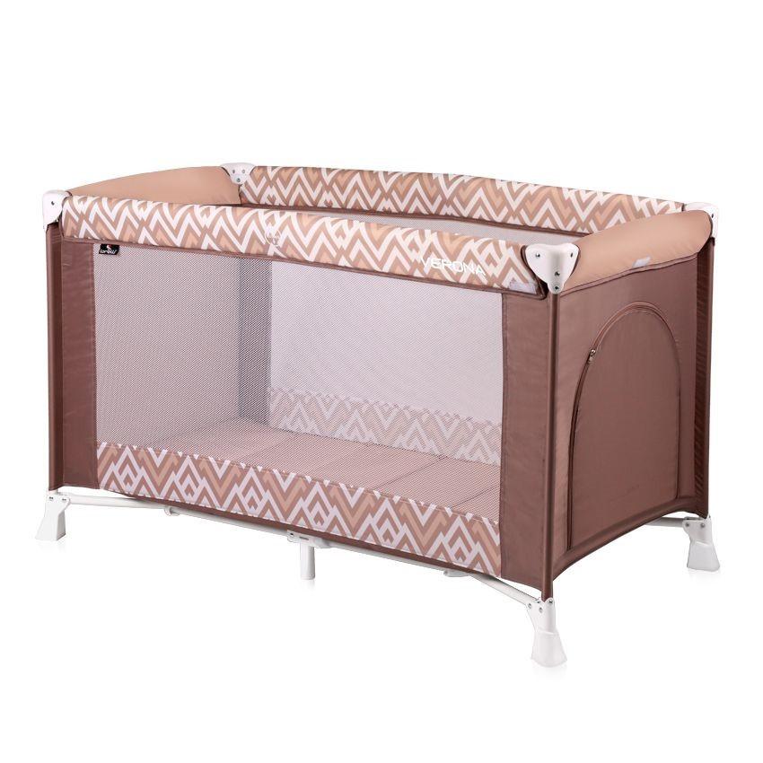 Lorelli Детская кровать манеж Lorelli Verona 1 (Коричнево-бежевый/Brown&Beige Lines 1940)