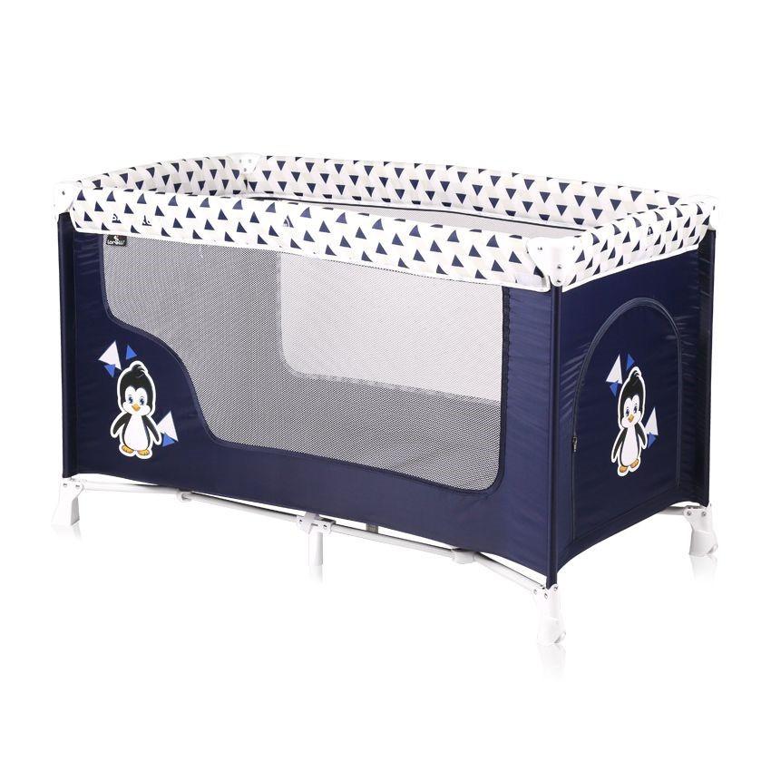 Lorelli Детская кровать манеж Lorelli SAN REMO 1 (Сине-белый/Blue&White Penguin 1936)