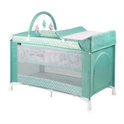 Lorelli Манеж для новорожденных VERONA 2 Plus (Зеленый/Green Lines 1943)
