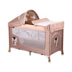 Lorelli Манеж для новорожденных Lorelli San Remo 2 Plus (Бежевый/BEIGE COOL CAT 1935)