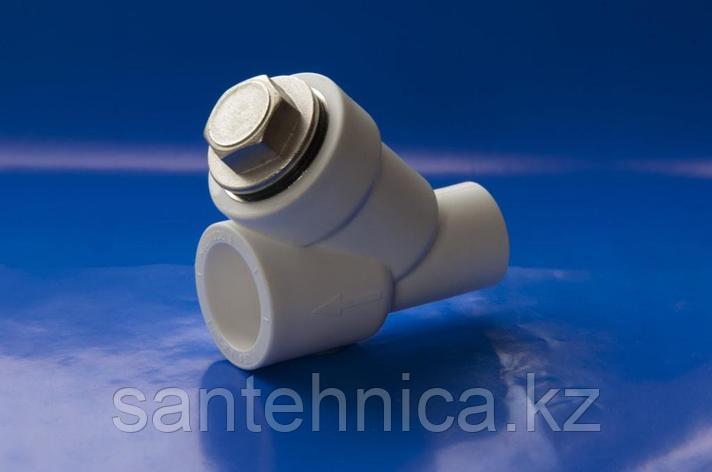 """Фильтр сетчатый полипропиленовый PP-R Дн 25 внутр./наруж. пайка Белый """"Политэк"""", фото 2"""