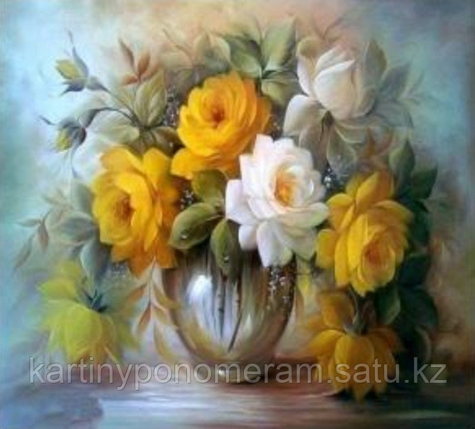 """Картины по номерам """"Желтые розы"""""""