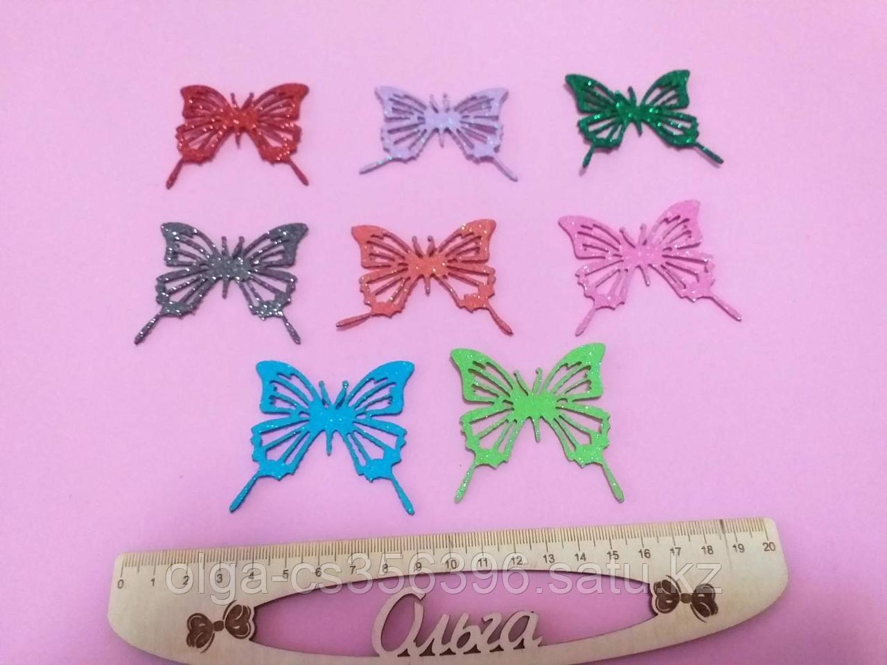 Бабочки из глиттерного фоамирана. 5,5 см. Creativ 2611