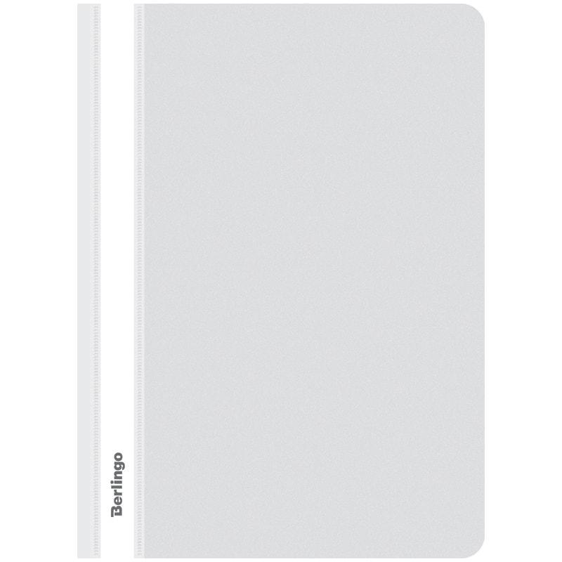 Папка-скоросшиватель пластик. А4, 180мкм, белая с прозр. верхом