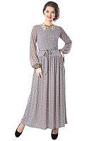 Восхитительное шифоновое платье в пол с кружевной спинкой.. Россия. Wisell. Размеры: 46, 48.