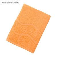 """Полотенце махровое банное """"Волна"""", размер 70х130 см, 300 г/м2, цвет оранжевый"""