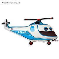 """Шар фольгированный 30"""" «Вертолёт», полиция"""