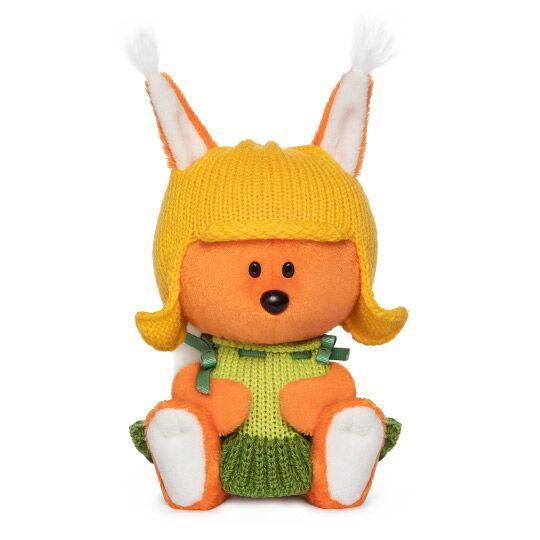 """Мягкая игрушка """"ЛЕсята"""" Белка Бика в шапочке и платье, 15 см"""
