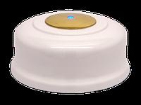 Кнопка вызова КСЛ-5 (белая, под золото)