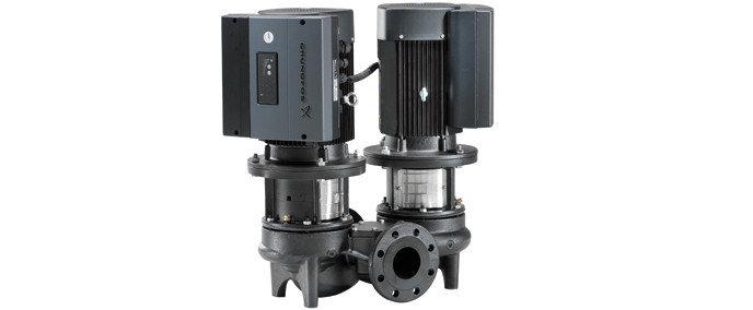 Сдвоенные центробежные насосы «ин-лайн» TPED 2000 со встр.част. преобразователем и датчиком перепада давления, фото 2
