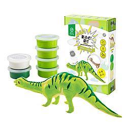"""Robotime Деревянные модели с цветной глиной """"Динозавры Diy: Бронтозавр"""""""