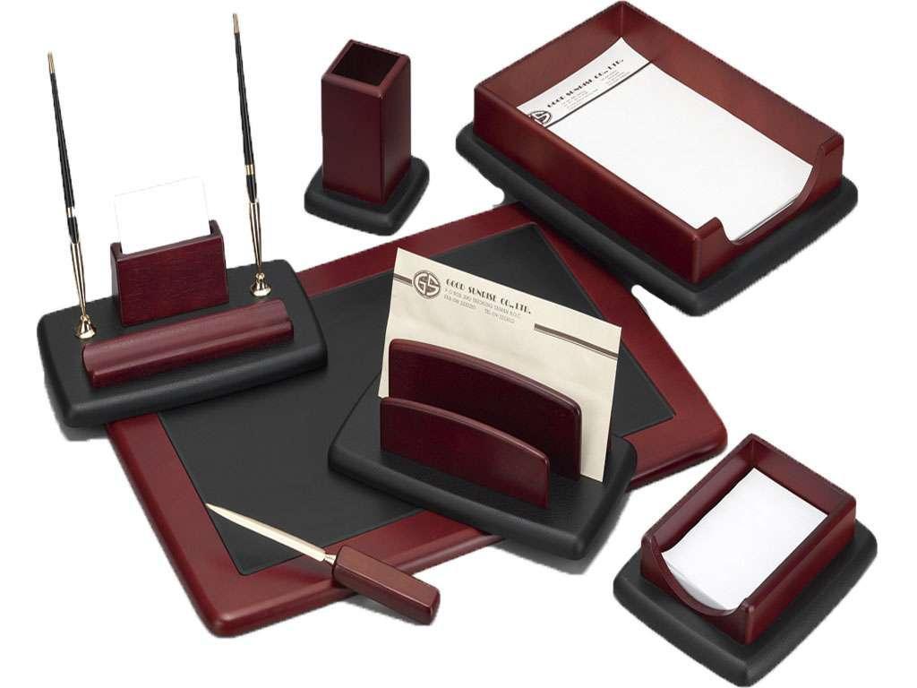 Набор настольный Good Sunrise деревянный, 7 предметов, красный/черный