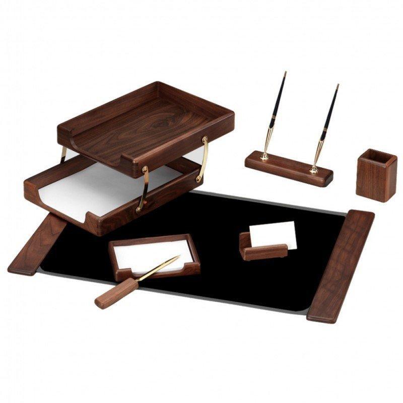 Набор настольный Good Sunrise деревянный, 7 предметов, орех