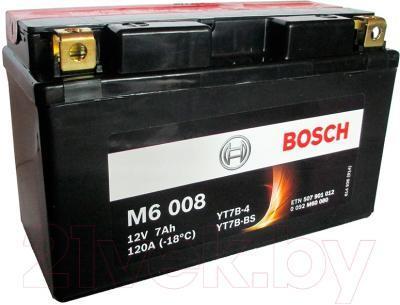Мотоциклетный аккумулятор (7Ah 12V) AGM Bosch M6 008 YT7B-BS
