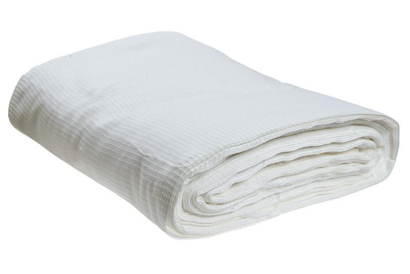 Вафельная ткань, плотность 100 гр/м2, ширина 80 см, в рулоне 100 м.