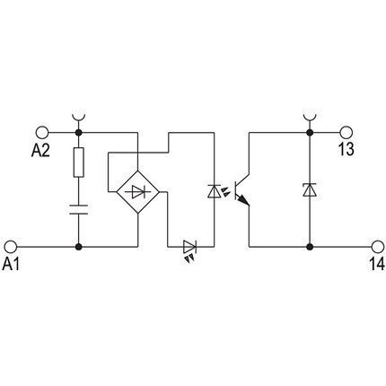 Твердотельные реле TOP 230VAC/48VDC 0.5A RC, фото 2