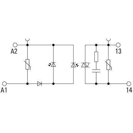 Твердотельные реле TOS 5VDC/230VAC 0,1A, фото 2