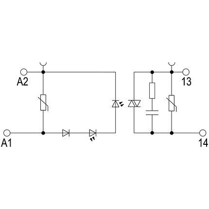 Твердотельные реле TOS 12VDC/230VAC 0,1A, фото 2