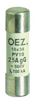 Плавкая вставка PV10 16A gG - PV10 25A gG   OEZ:06703 - OEZ:06707