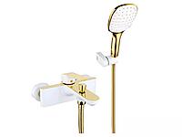 Gappo 3080 смеситель для ванны белый+золото