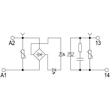 Твердотельные реле TOS 48-60VAC/230VAC 0,1A, фото 2