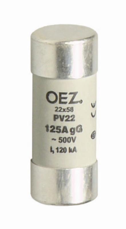 Плавкая вставка PV22 63A gG - PV22 125A gG  OEZ:06752 - OEZ:18271