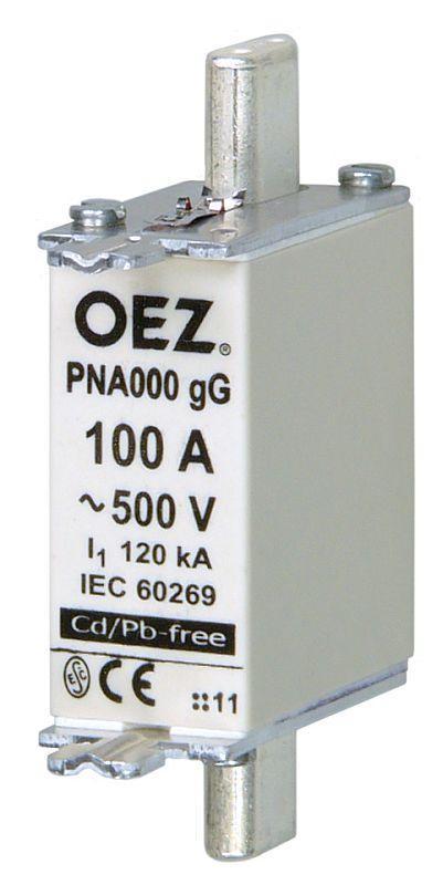 Плавкая вставка PNA000 63A gG - PNA000 160A gG  OEZ:40486 - OEZ:40490